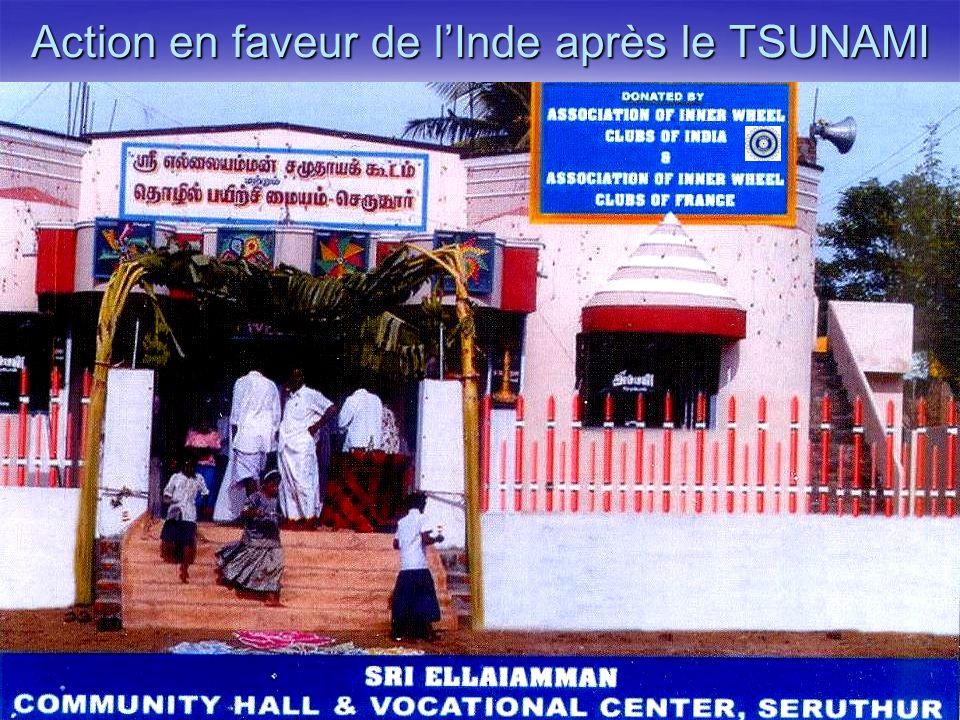 Action en faveur de l'Inde après le TSUNAMI