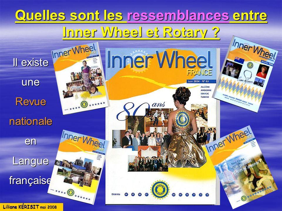 Quelles sont les ressemblances entre Inner Wheel et Rotary