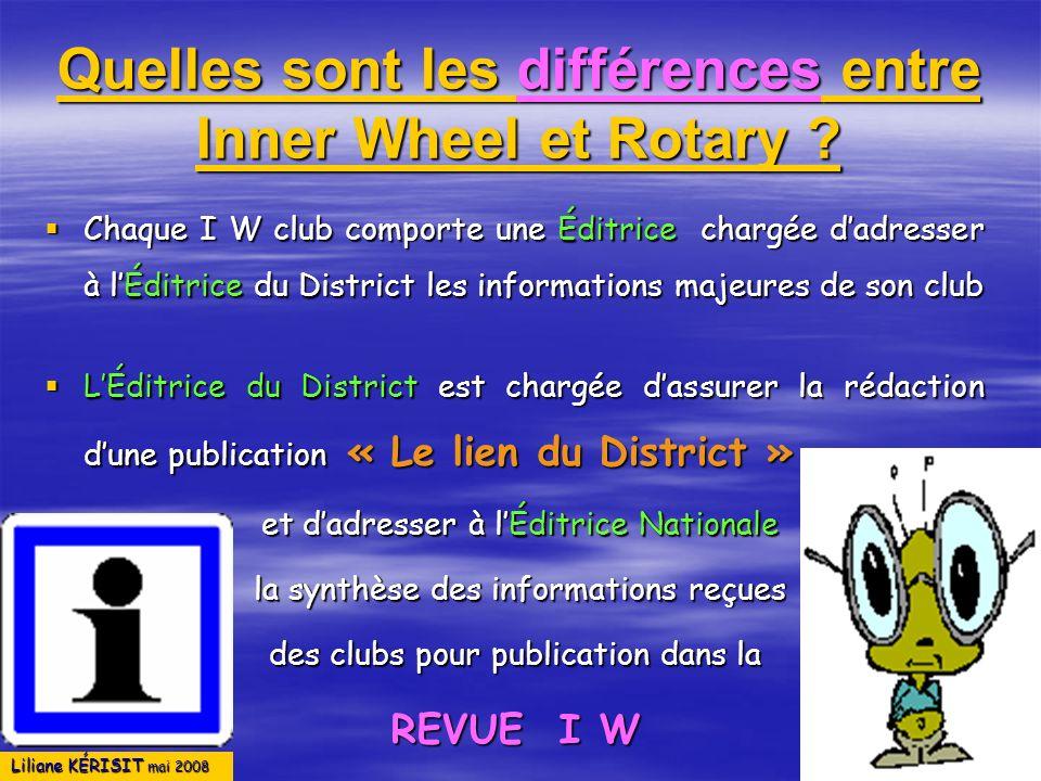 Quelles sont les différences entre Inner Wheel et Rotary