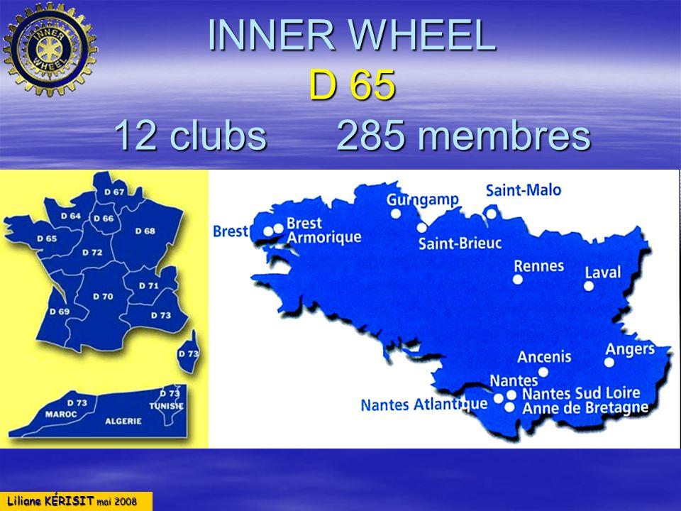 INNER WHEEL D 65 12 clubs 285 membres
