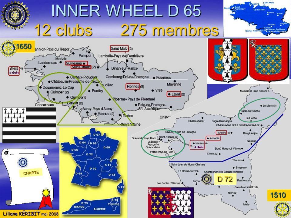 INNER WHEEL D 65 12 clubs 275 membres