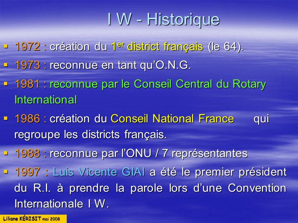 I W - Historique 1972 : création du 1er district français (le 64).