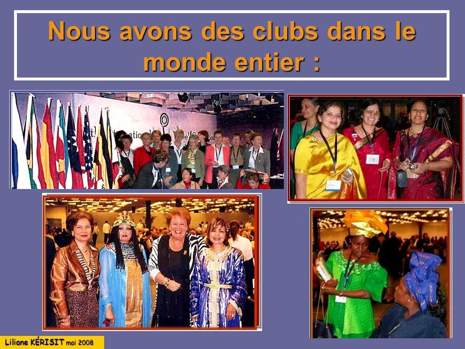Nous avons des clubs dans le monde entier :
