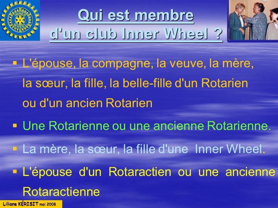 Qui est membre d un club Inner Wheel