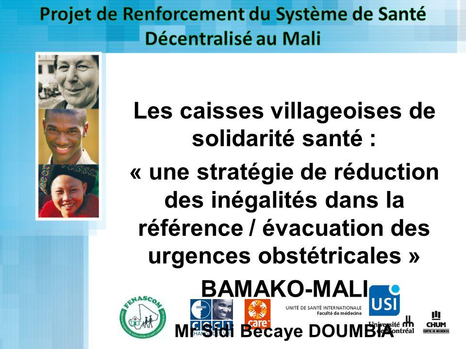 Projet de Renforcement du Système de Santé Décentralisé au Mali