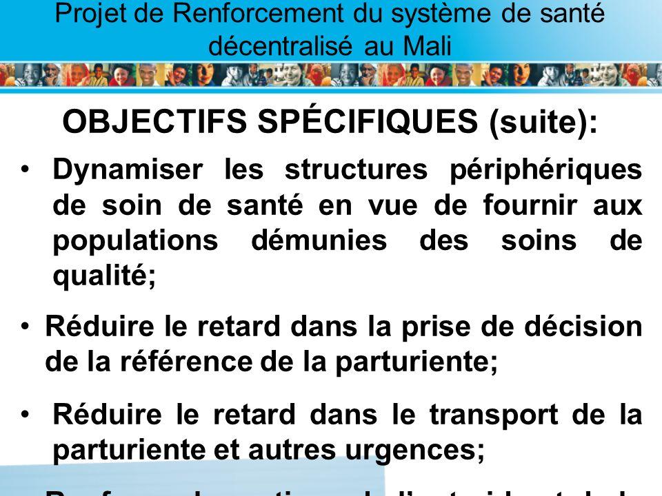OBJECTIFS SPÉCIFIQUES (suite):