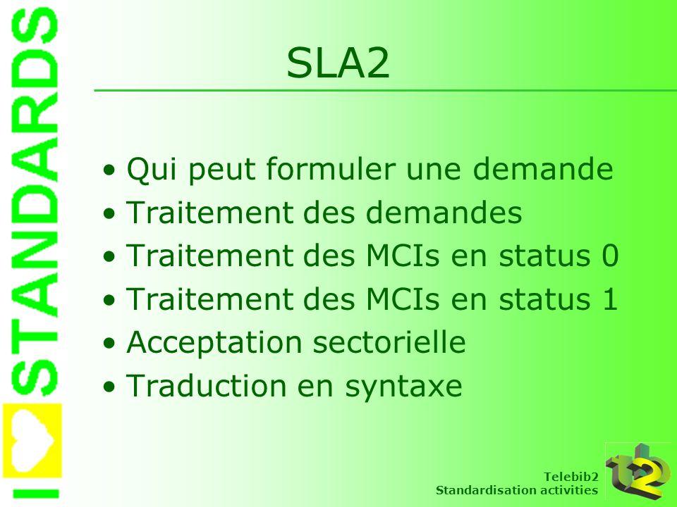 SLA2 Qui peut formuler une demande Traitement des demandes