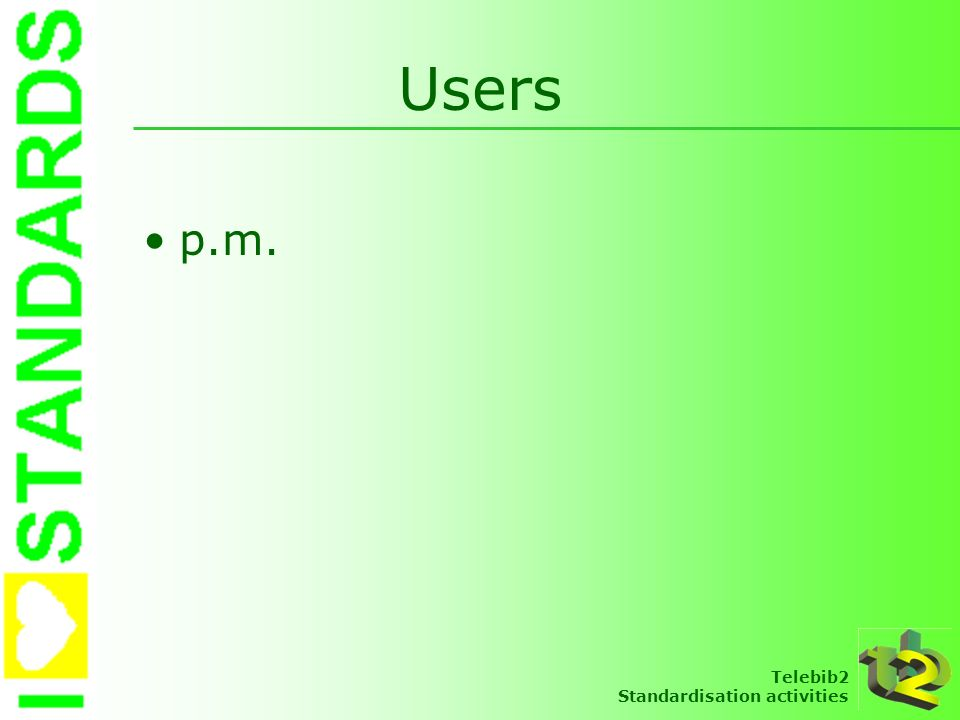 Users p.m.