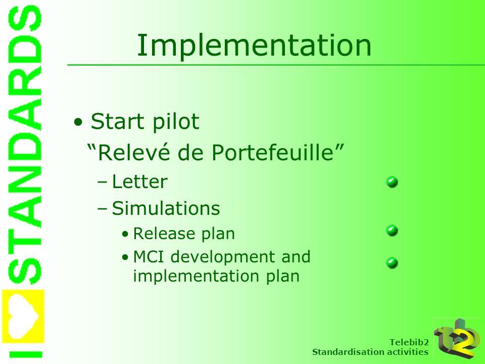 Implementation Start pilot Relevé de Portefeuille Letter Simulations