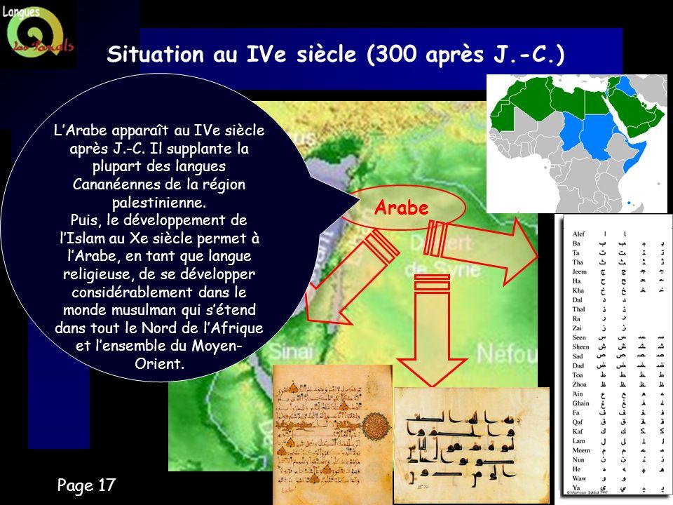 Situation au IVe siècle (300 après J.-C.)