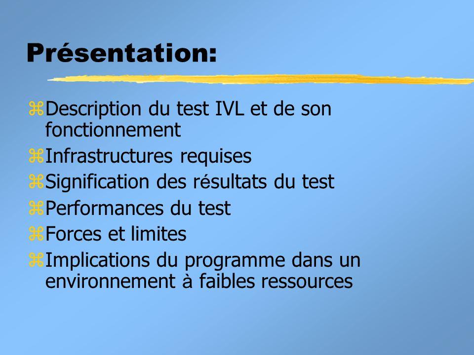 Présentation: Description du test IVL et de son fonctionnement