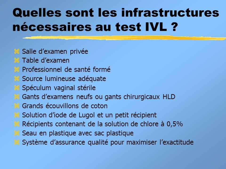 Quelles sont les infrastructures nécessaires au test IVL