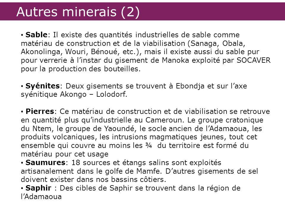 Autres minerais (2)