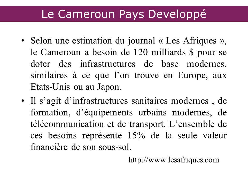 Le Cameroun Pays Developpé