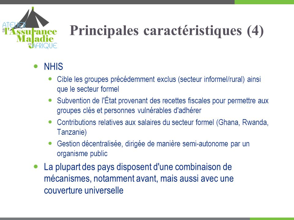 Principales caractéristiques (4)