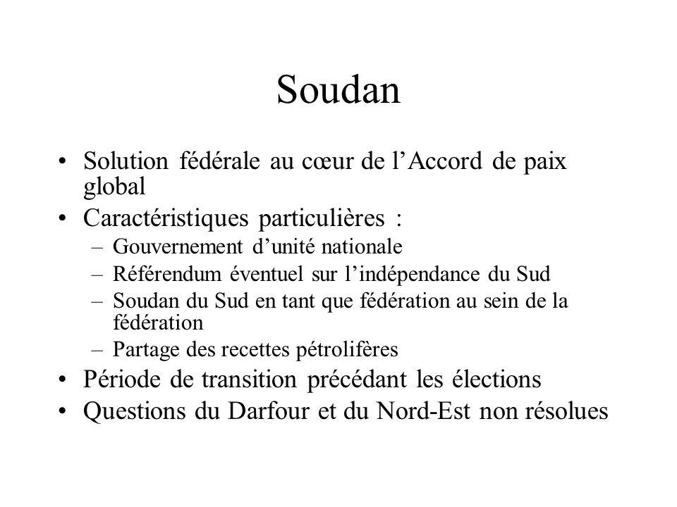 Soudan Solution fédérale au cœur de l'Accord de paix global