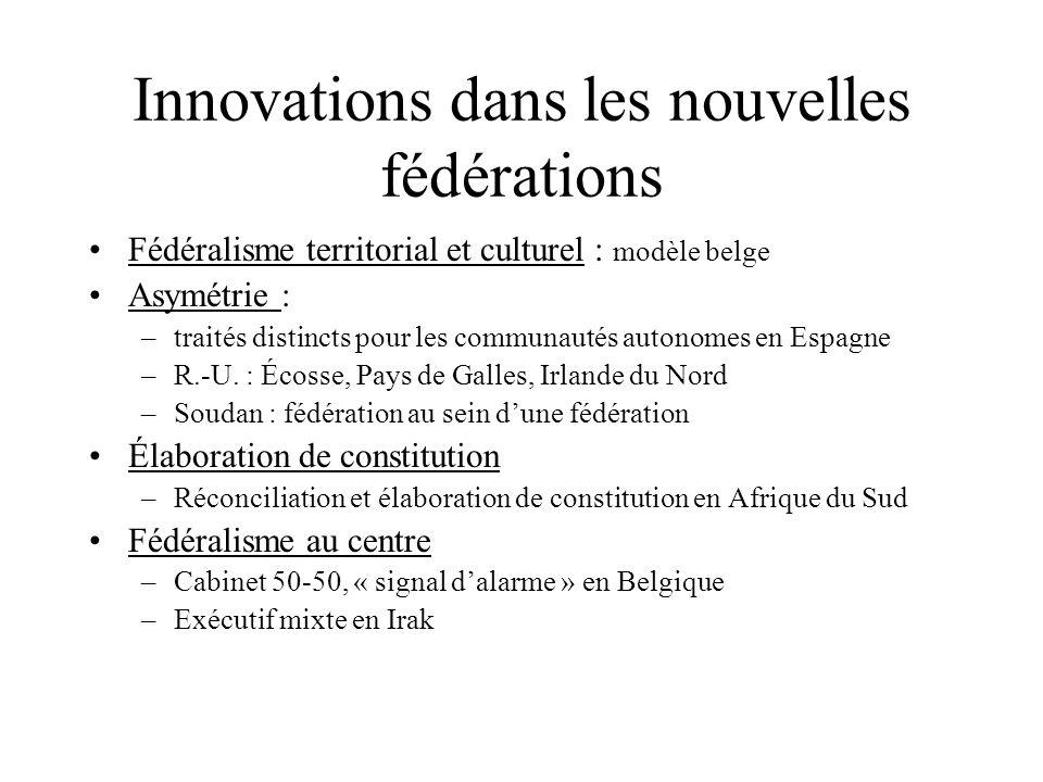 Innovations dans les nouvelles fédérations