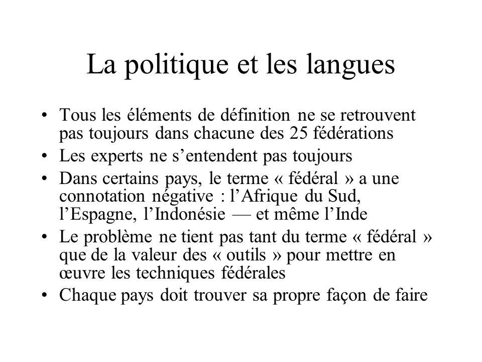 La politique et les langues