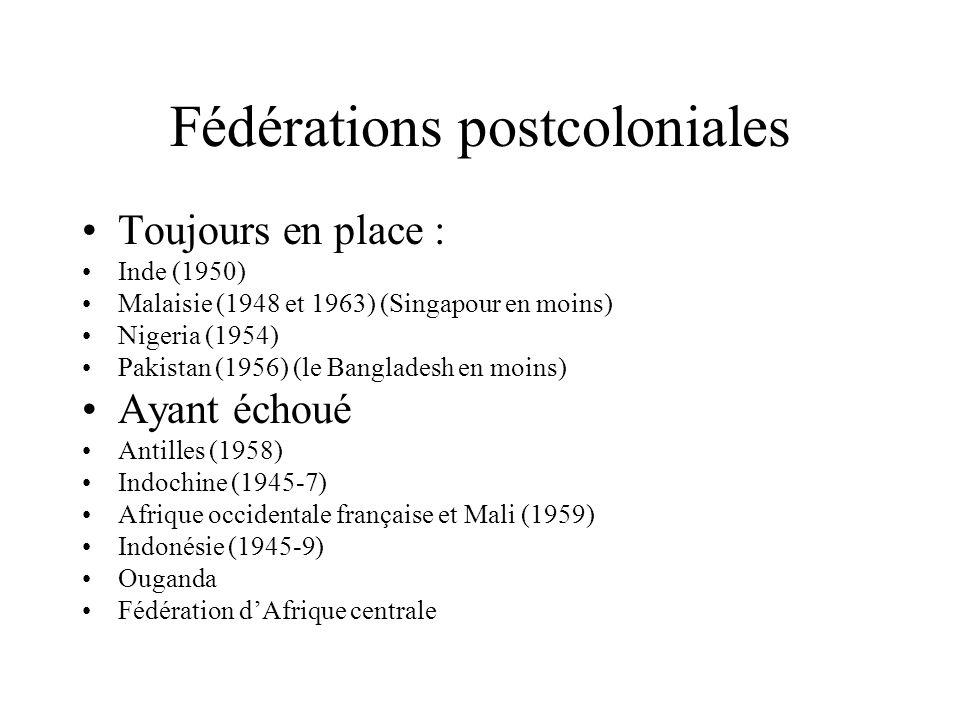 Fédérations postcoloniales