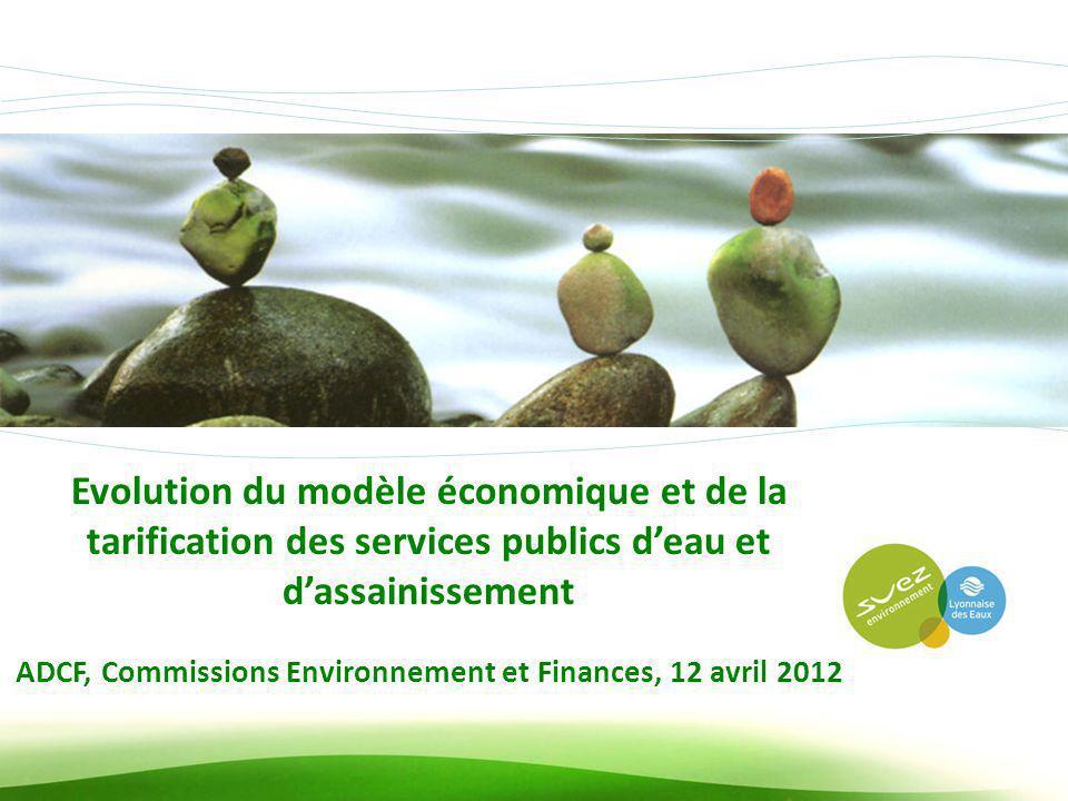 ADCF, Commissions Environnement et Finances, 12 avril 2012