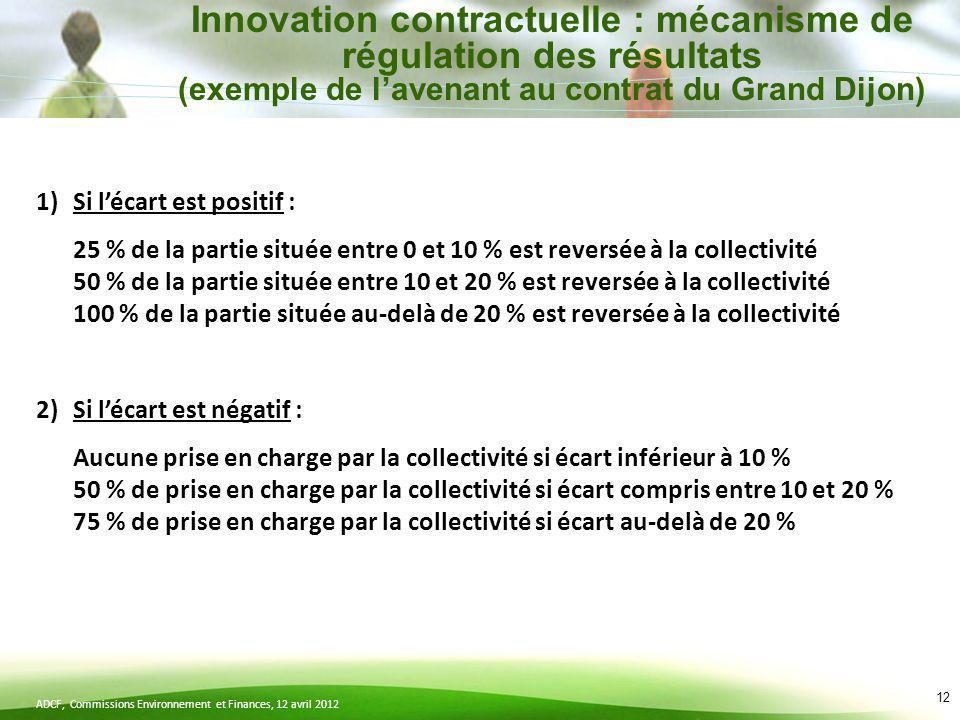 Innovation contractuelle : mécanisme de régulation des résultats