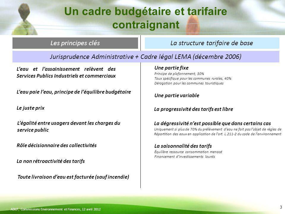 Un cadre budgétaire et tarifaire contraignant