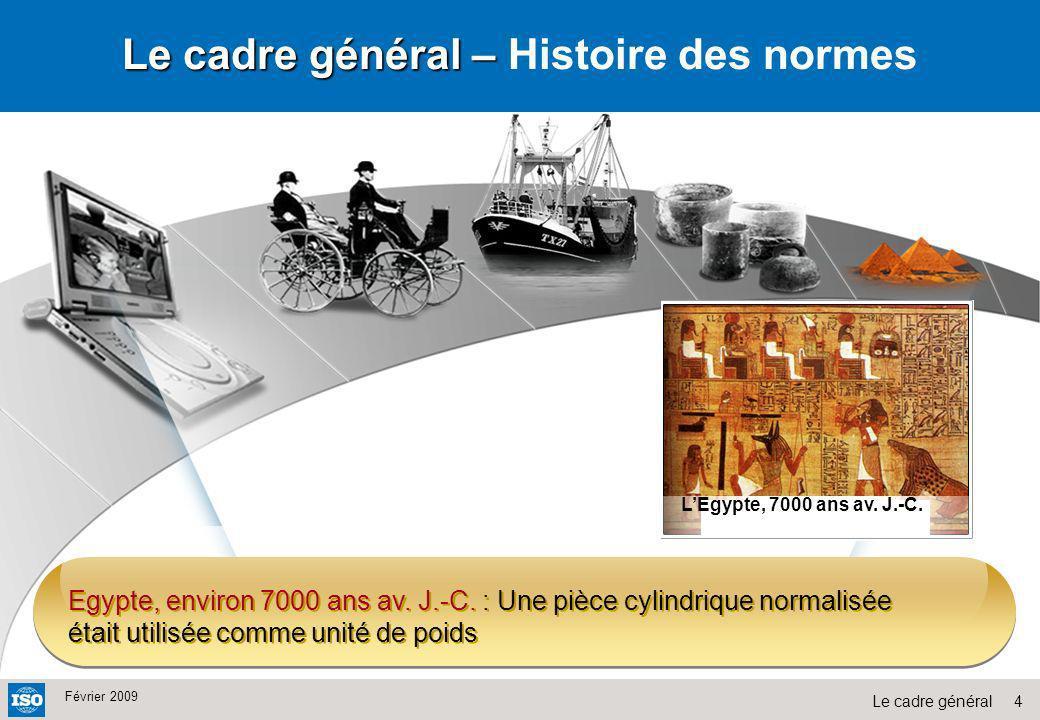 Le cadre général – Histoire des normes