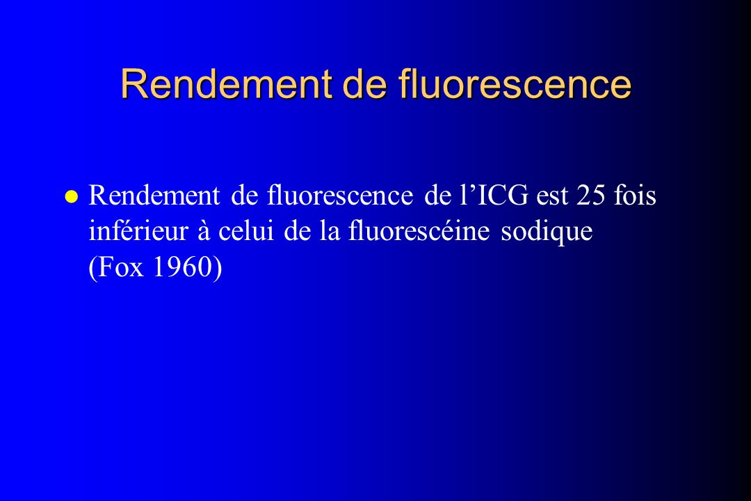 Rendement de fluorescence