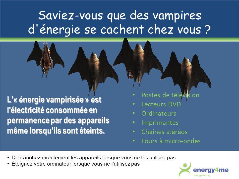 Saviez-vous que des vampires d énergie se cachent chez vous