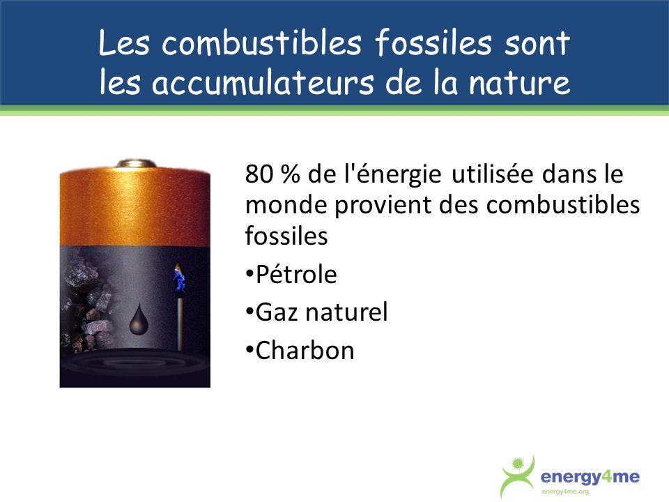 Les combustibles fossiles sont les accumulateurs de la nature