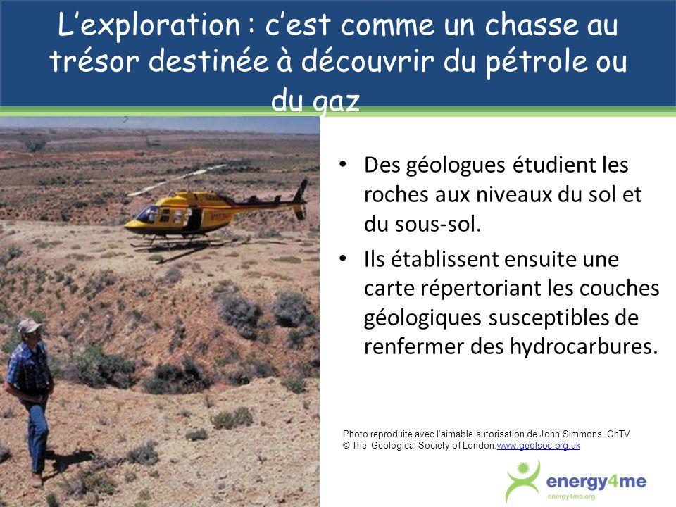 L'exploration : c'est comme un chasse au trésor destinée à découvrir du pétrole ou du gaz