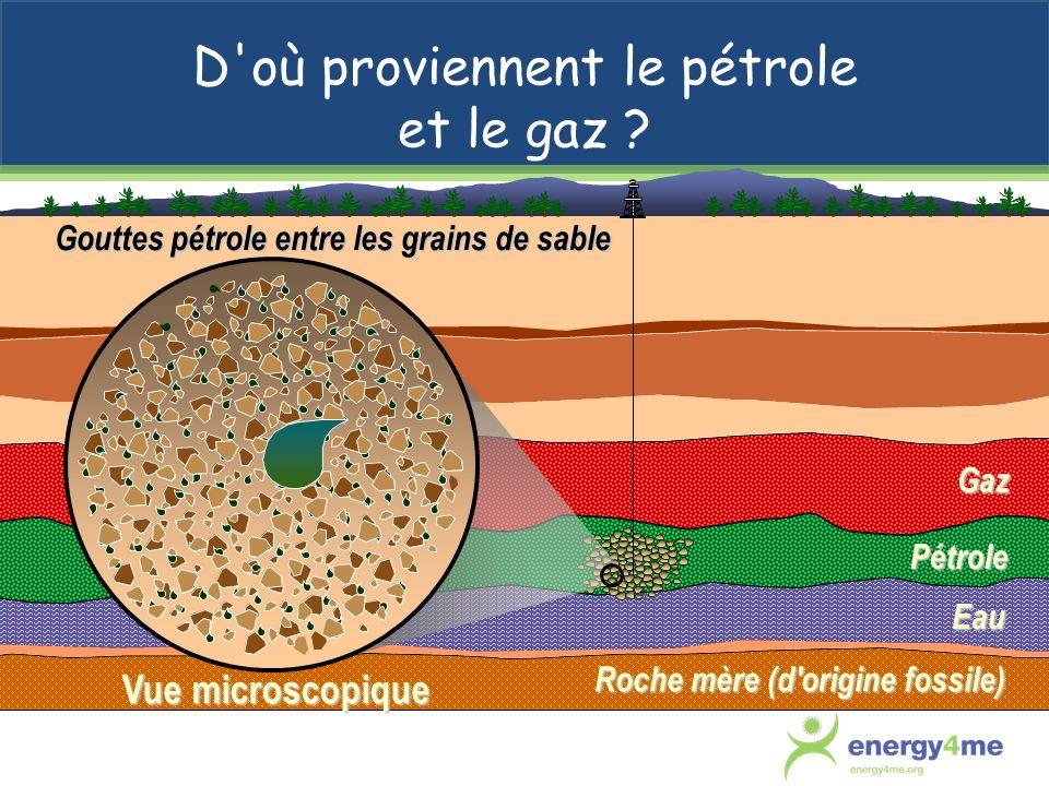 D où proviennent le pétrole et le gaz