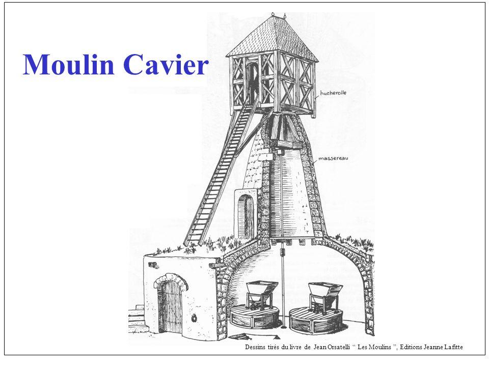 Moulin Cavier Dessins tirés du livre de Jean Orsatelli Les Moulins , Editions Jeanne Lafitte