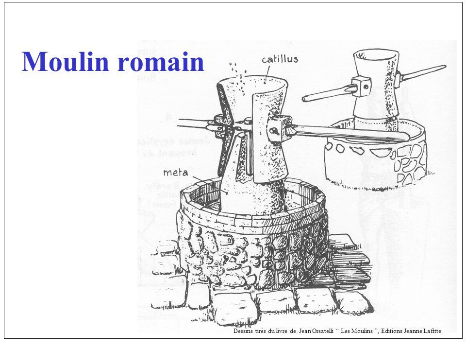 Moulin romain Dessins tirés du livre de Jean Orsatelli Les Moulins , Editions Jeanne Lafitte