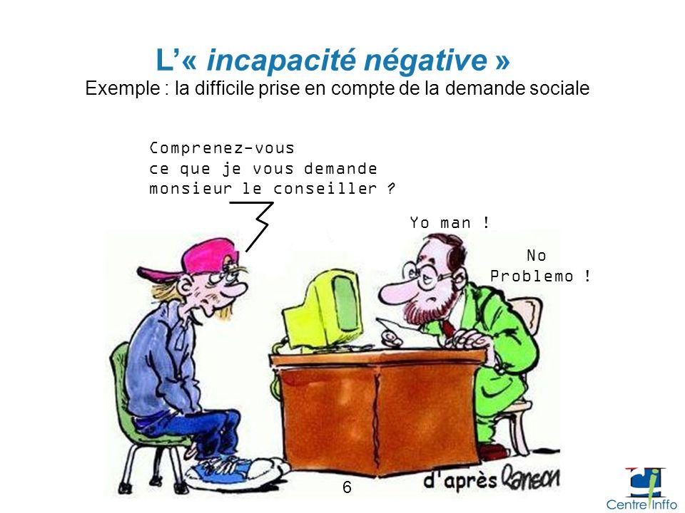 L'« incapacité négative »