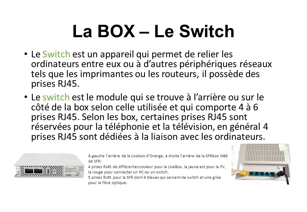 Les differents types de liaisons entre l ordinateur et la box ppt video online t l charger - Connecter un pc de bureau en wifi ...