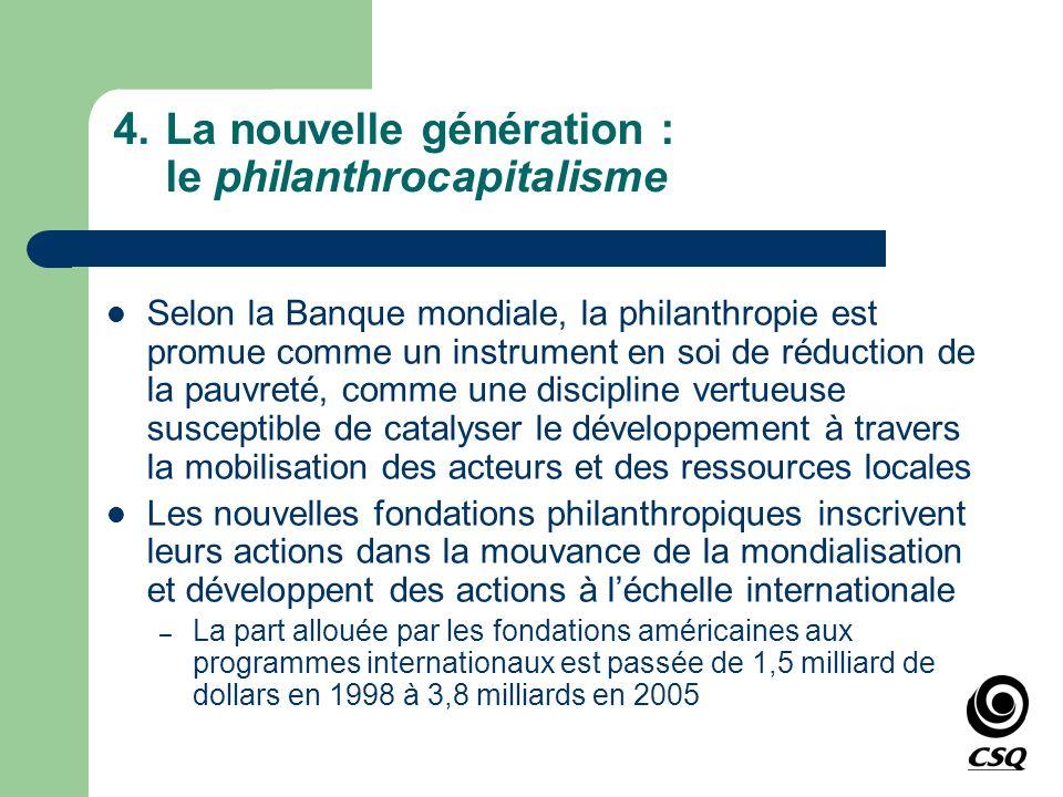 La nouvelle génération : le philanthrocapitalisme