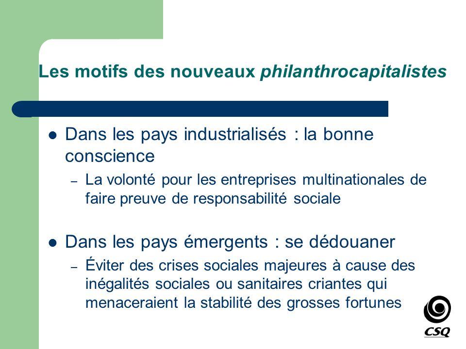 Les motifs des nouveaux philanthrocapitalistes