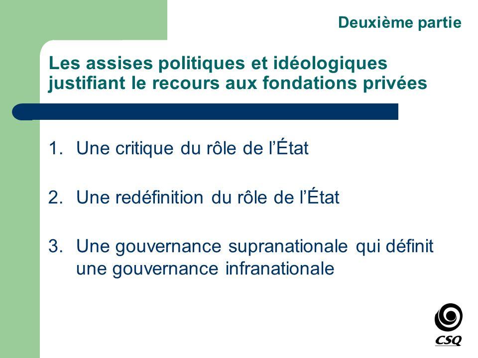 1. Une critique du rôle de l'État