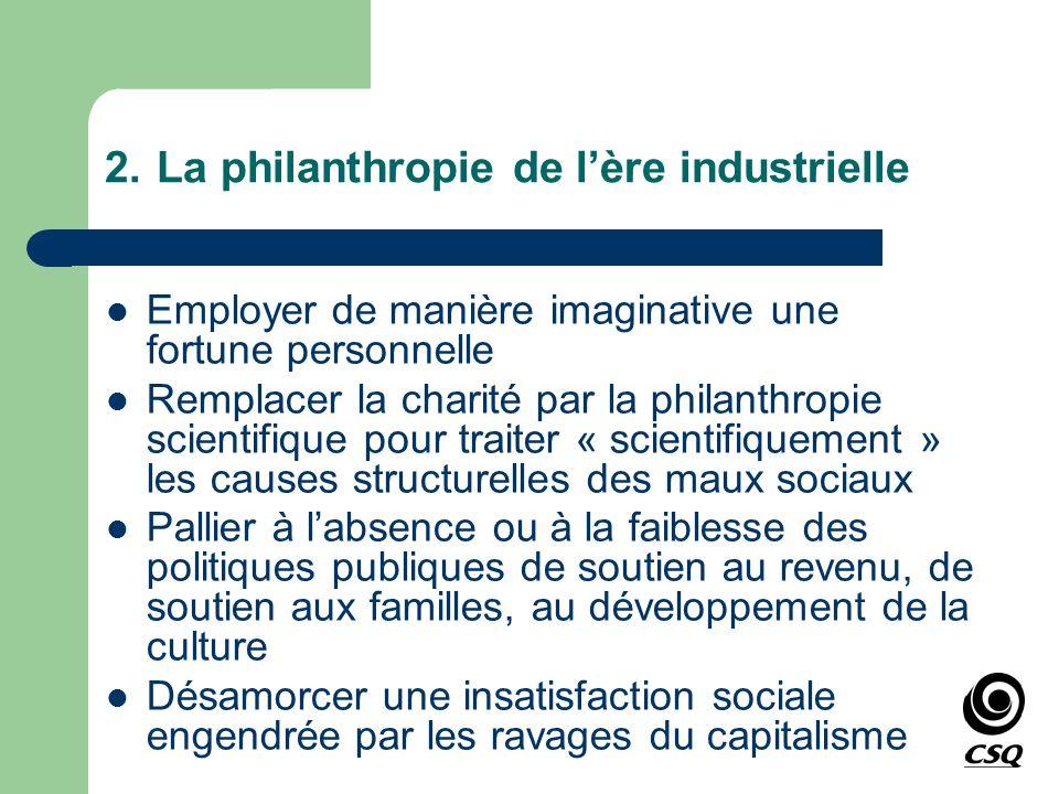 2. La philanthropie de l'ère industrielle