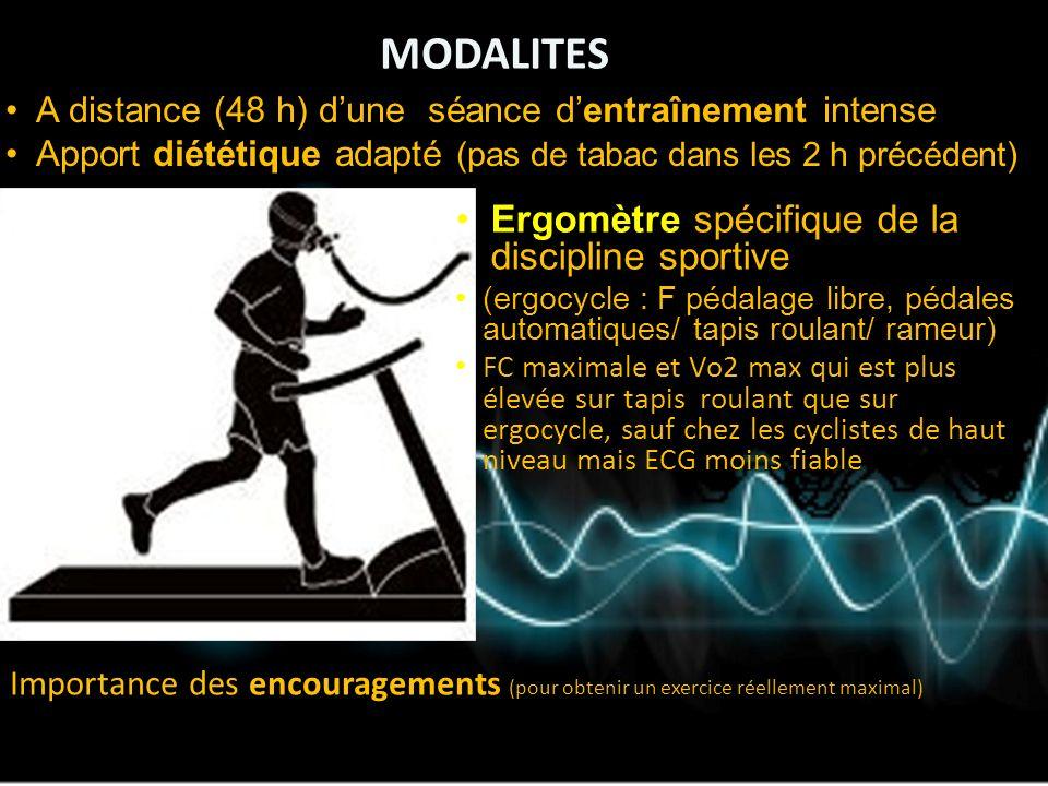 Int r t de l preuve d effort pour l 39 entrainement du sportif ppt video online t l charger - Test vo2max sur tapis roulant ...