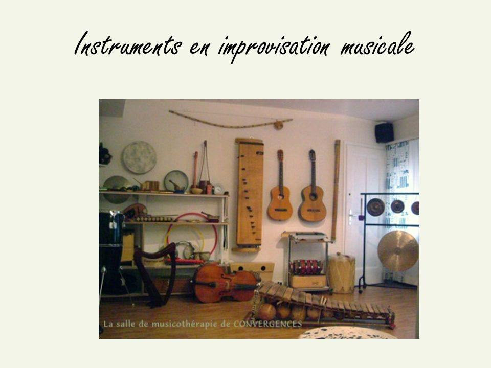Instruments en improvisation musicale