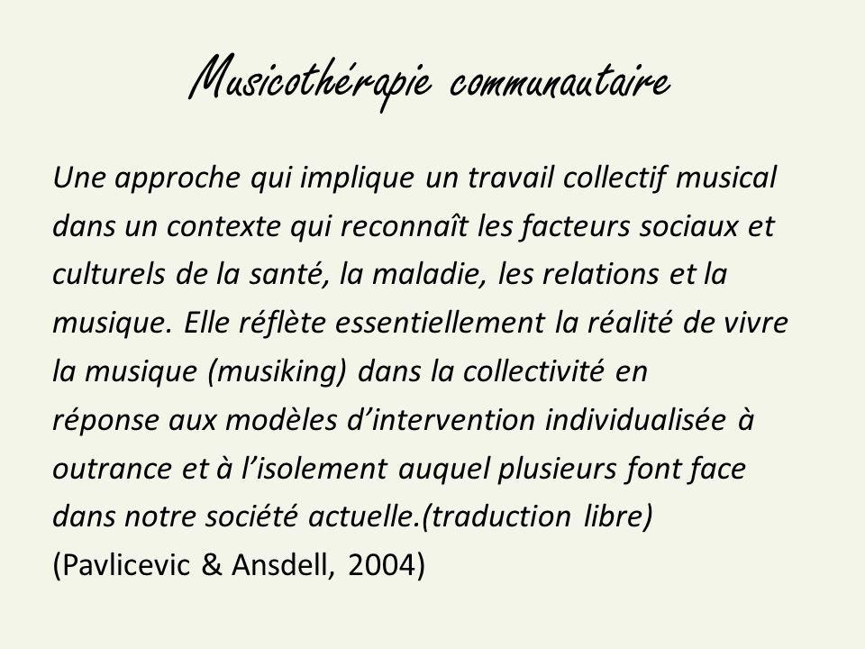Musicothérapie communautaire