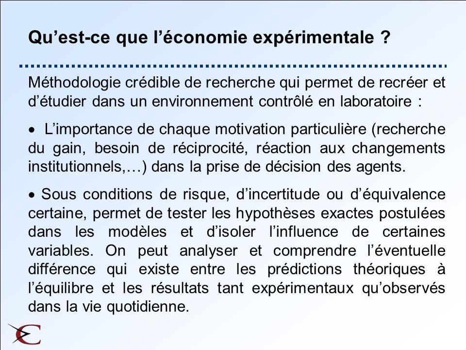 Qu'est-ce que l'économie expérimentale