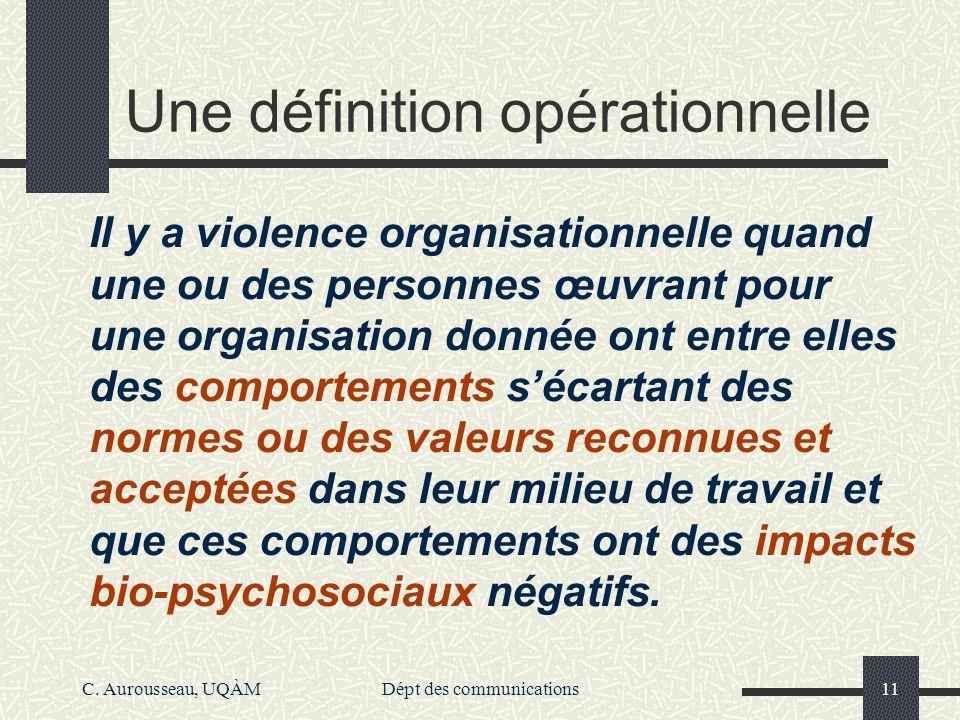 Une définition opérationnelle