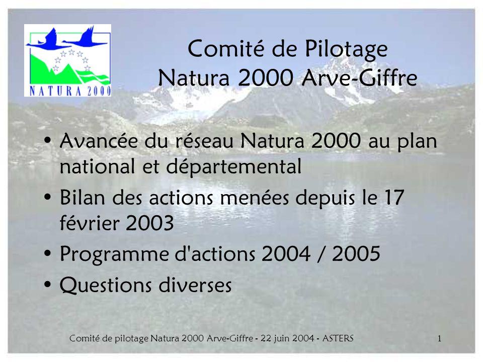 Comité de Pilotage Natura 2000 Arve-Giffre