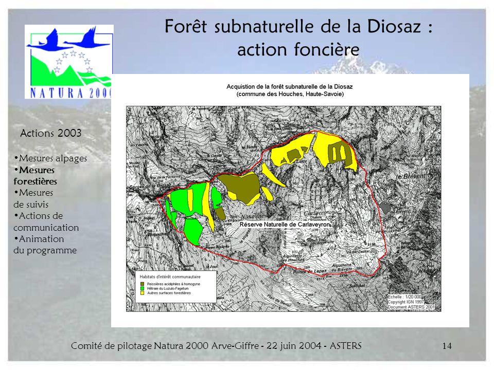 Forêt subnaturelle de la Diosaz : action foncière