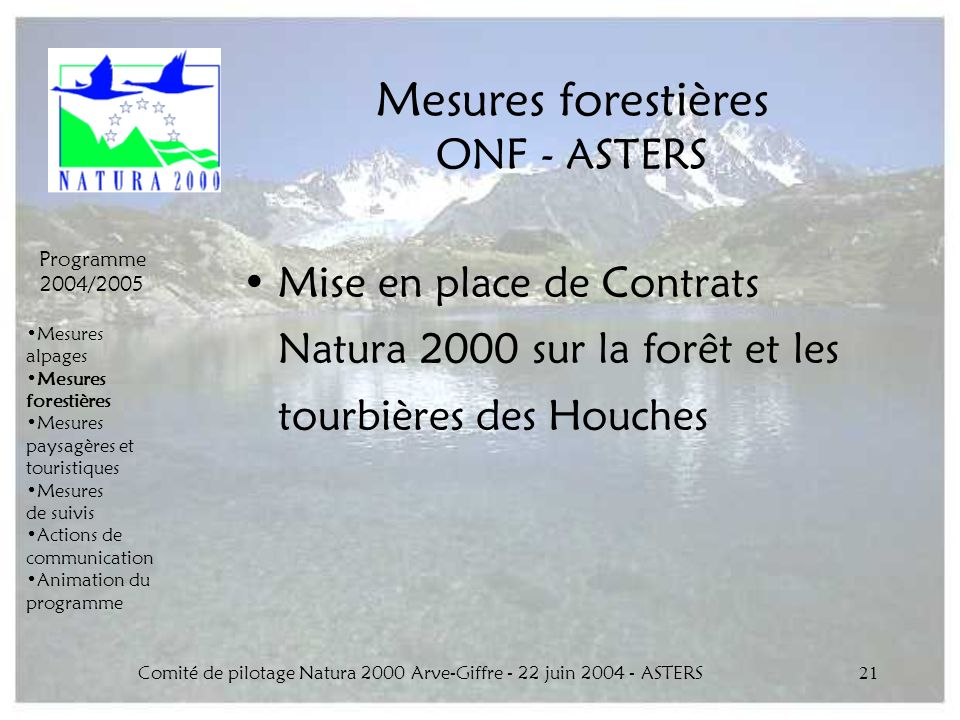 Mesures forestières ONF - ASTERS