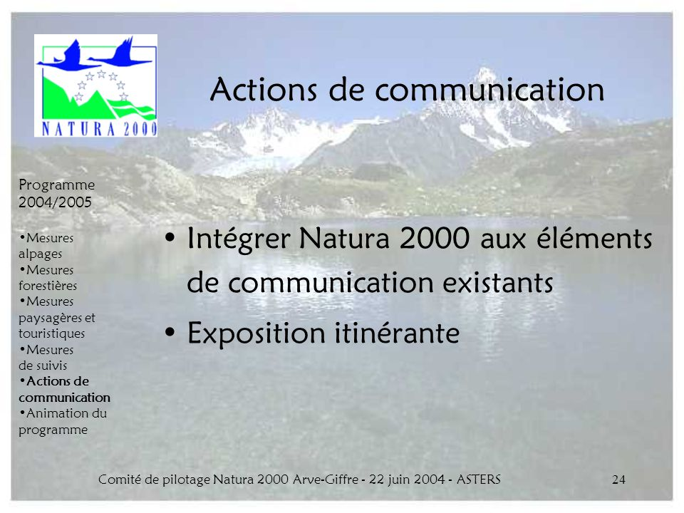 Actions de communication