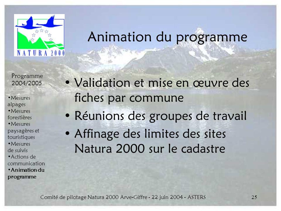 Animation du programme